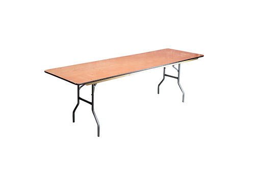"""8' x 30"""" Banquet Table"""