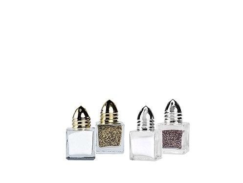 Gold & Silver Top Square Shakers