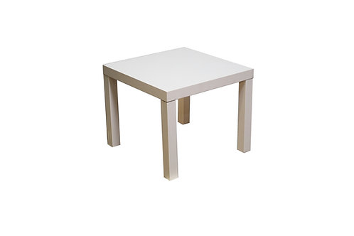 Sleek White End Table