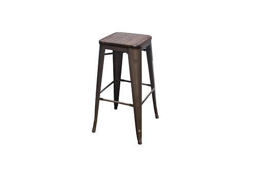Rustic Metal Barstool