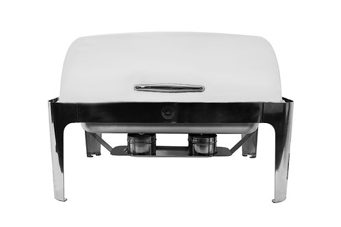 8QT. Roll Top Rectangular Chafer