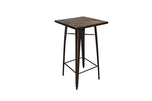 Rustic Metal Bar Table