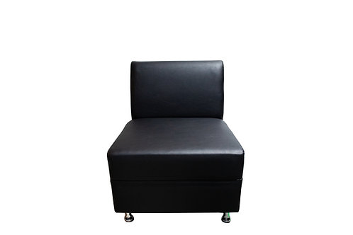 Sleek Chair - Black Leather