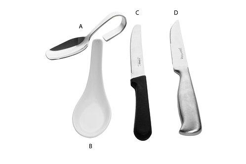Steak Knives & Spoons