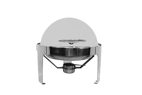 6QT. Roll Top Round Chafer