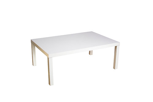 Sleek White Coffee Table