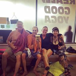 Really good yoga. Really good friends. Really good smiles. Really. It's good