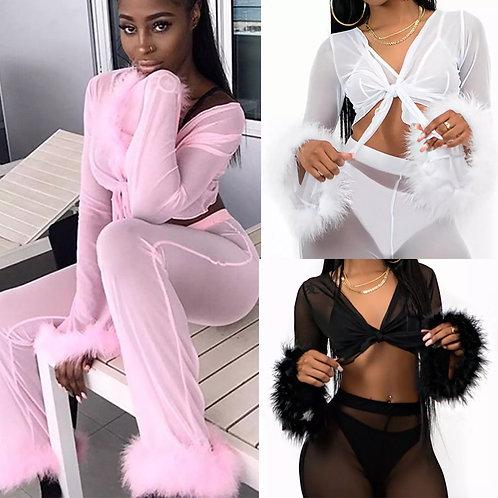 Fur Pajama Set