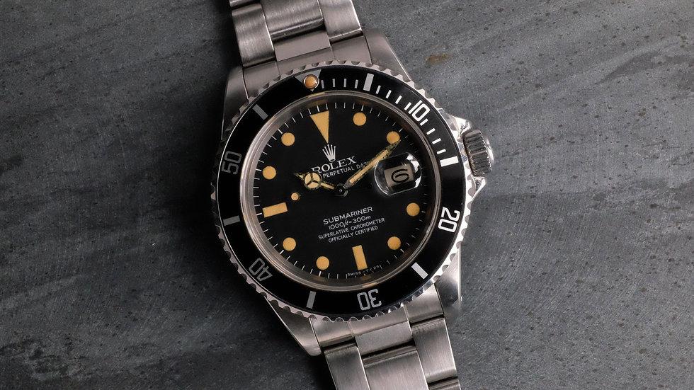 1980 Unpolished Rolex Submariner Ref. 16800 MK1 'pumpkin patina'