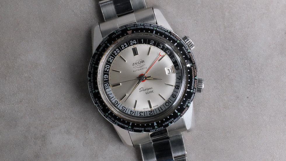 LNOS Enicar Sherpa Guide MK1 'Riveted bracelet' Pilot's watch