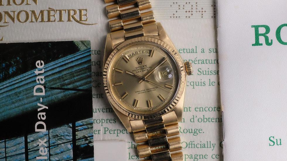 1972 Rolex Day Date Ref. 1803 'Wide Boy' Full Set