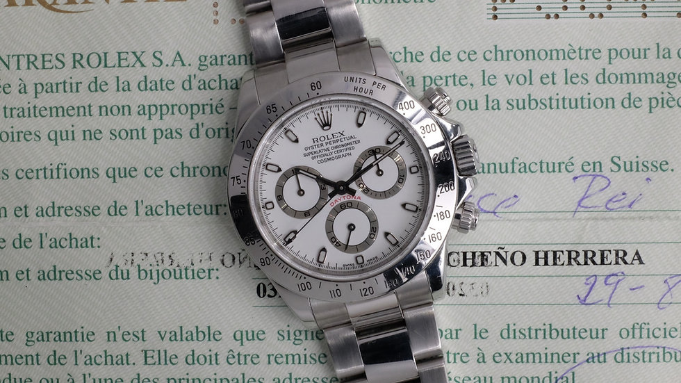 2000 Rolex Daytona Ref. 116520 P-Series MK1 'Cream dial' w/ Papers