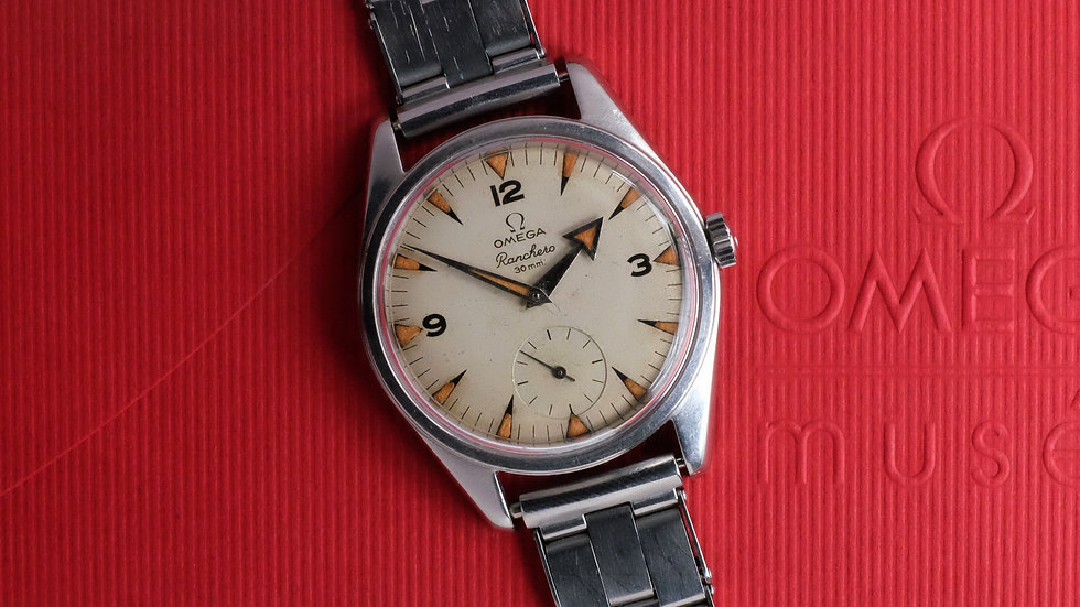 1958 Omega Ranchero 2990-1 'cream dial and pumpkin patina'