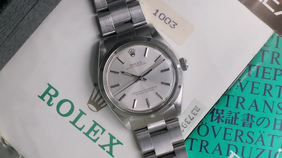1987 Rolex Oyster Perpetual Ref. 1003 Full Set