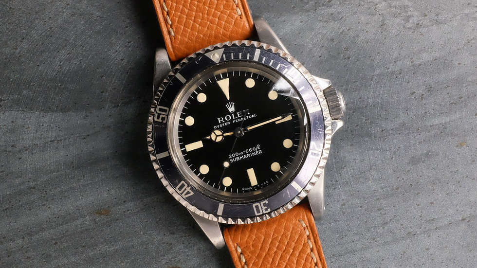 1969 Rolex Submariner Ref. 5513 Meters First Blue-gray bezel insert