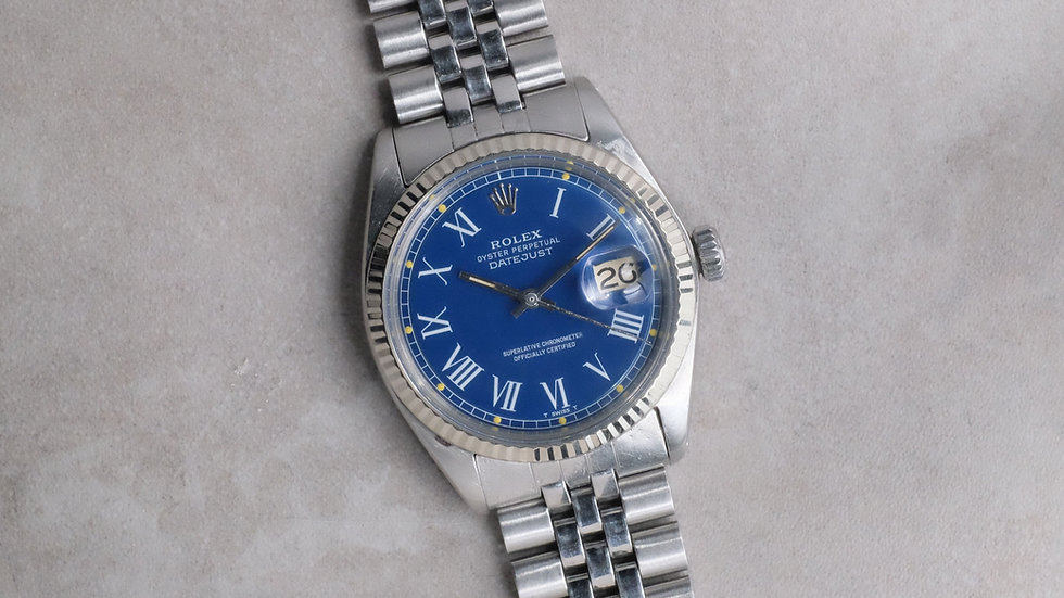 1971 Rolex Datejust Ref. 1601 Blue 'Buckley' Dial