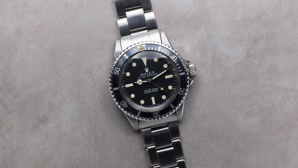 1971 Rolex Submariner 5513 'Non-Serif' with 'Kissing 40' insert