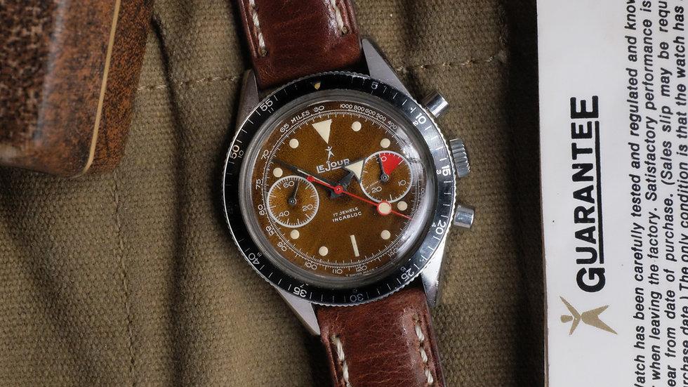 60s Le Jour chronograph 'Tropical dial' Full Set