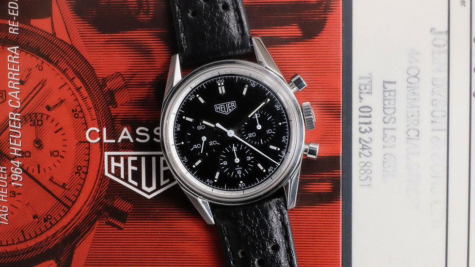 1997 Heuer Carrera CS3111 Re-edition 'Full Set'