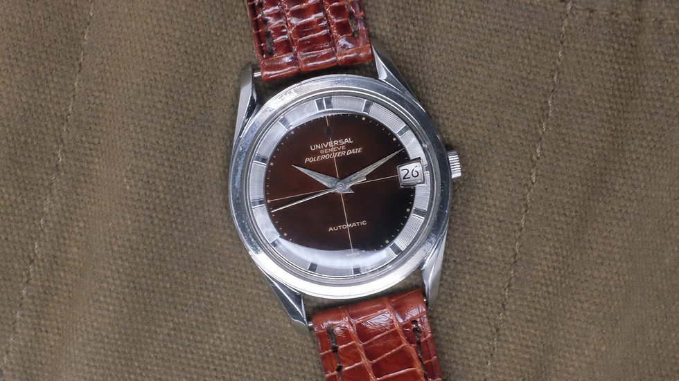 Universal Geneve Polerouter Date Ref. 869111/01 'Chocolate dial'