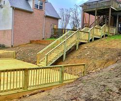 Custom Pool Deck With Walkway