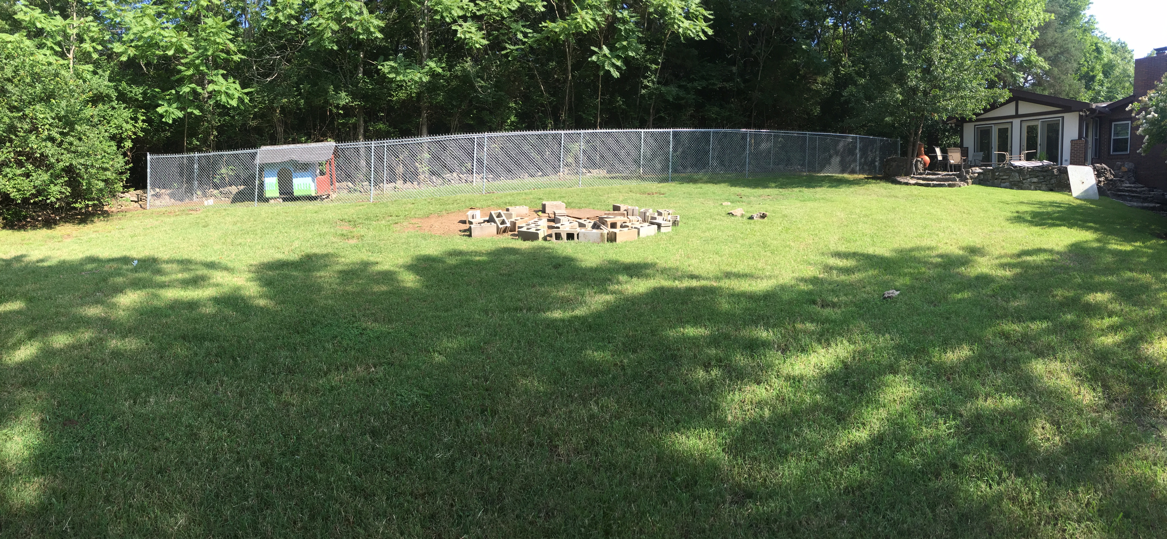 6ft Chain Link Dog Run Fence