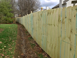 6ft Privacy Fence-Gothic Style Posts