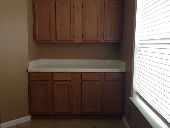 Built In Cabinets and Tile Counter