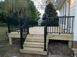 Deck With Aluminum Handrails