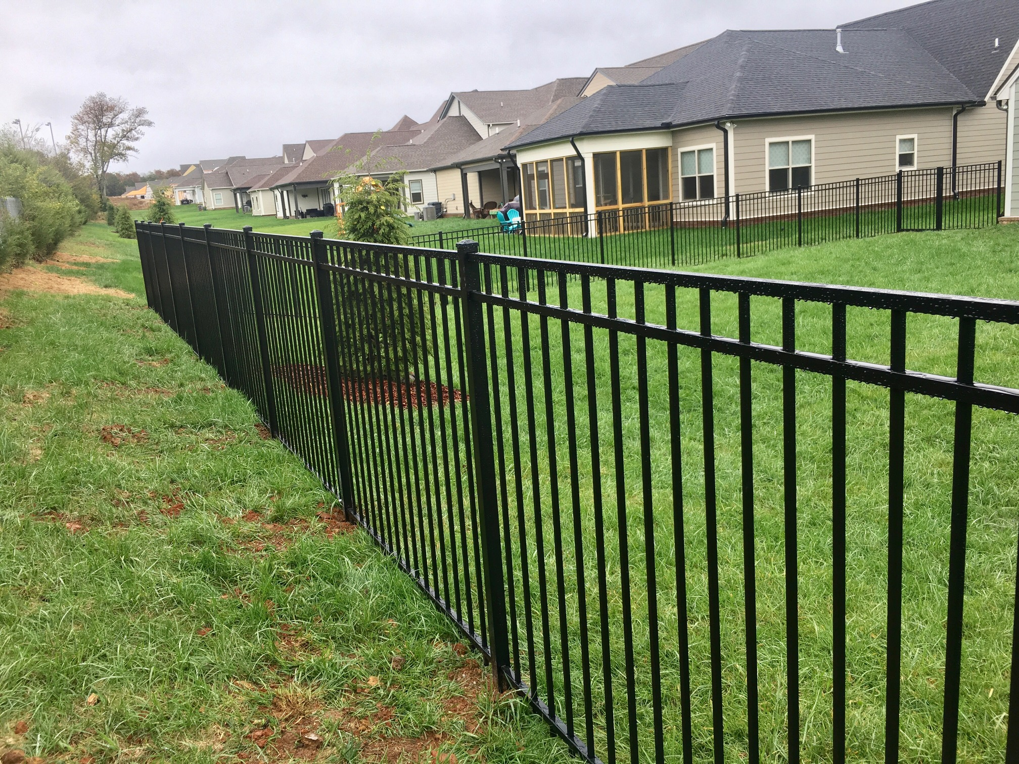 5ft Black Aluminum Fence