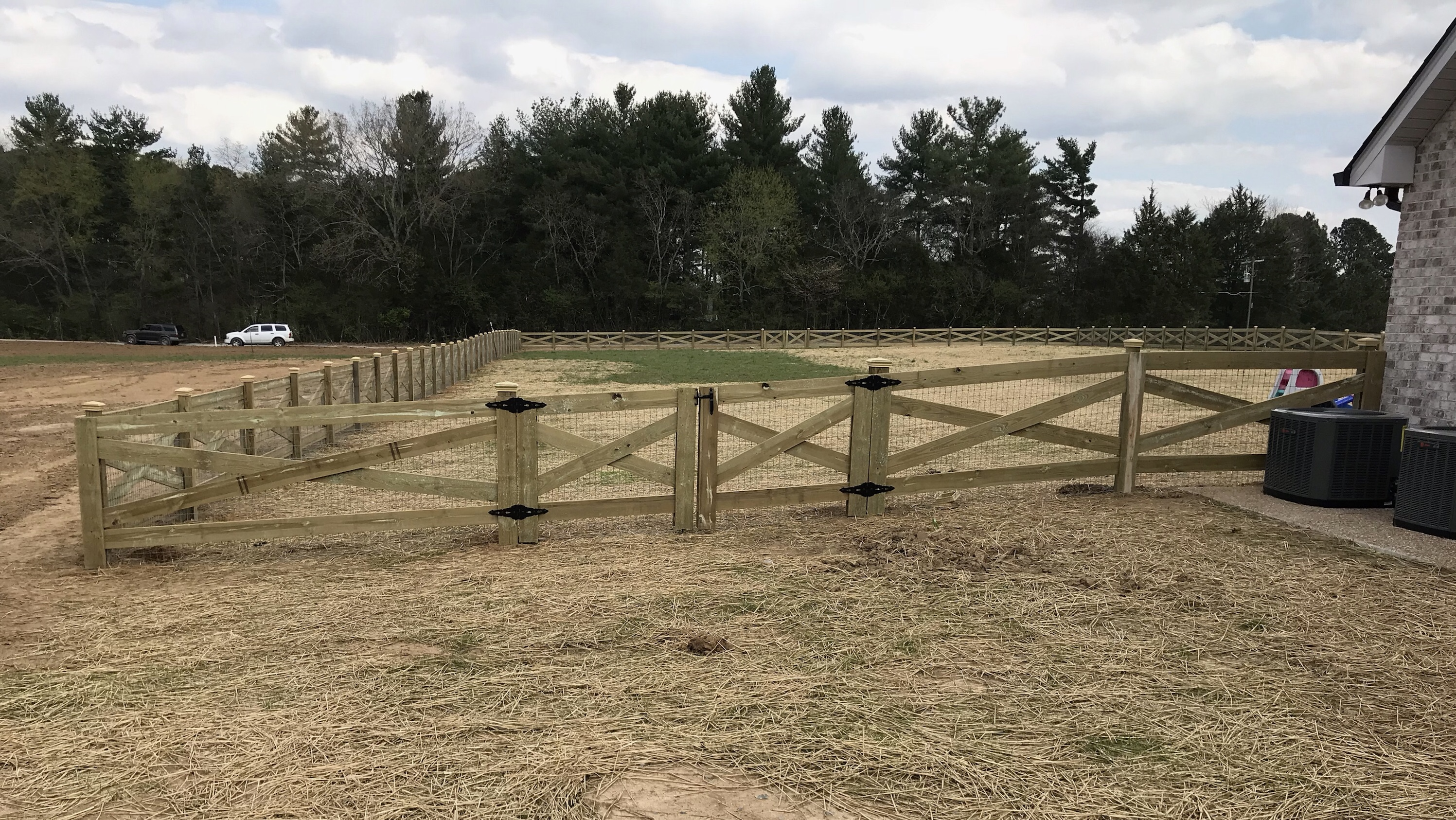 Cross Board Farm Fence