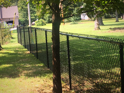 Black 4ft Chain Link Fence