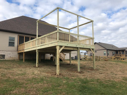 New Deck With Posts To String Lights