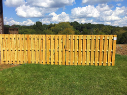 6ft Dog Ear Shadow Box Style Fence