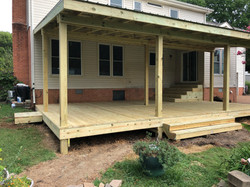Covered Deck with Shed Roof