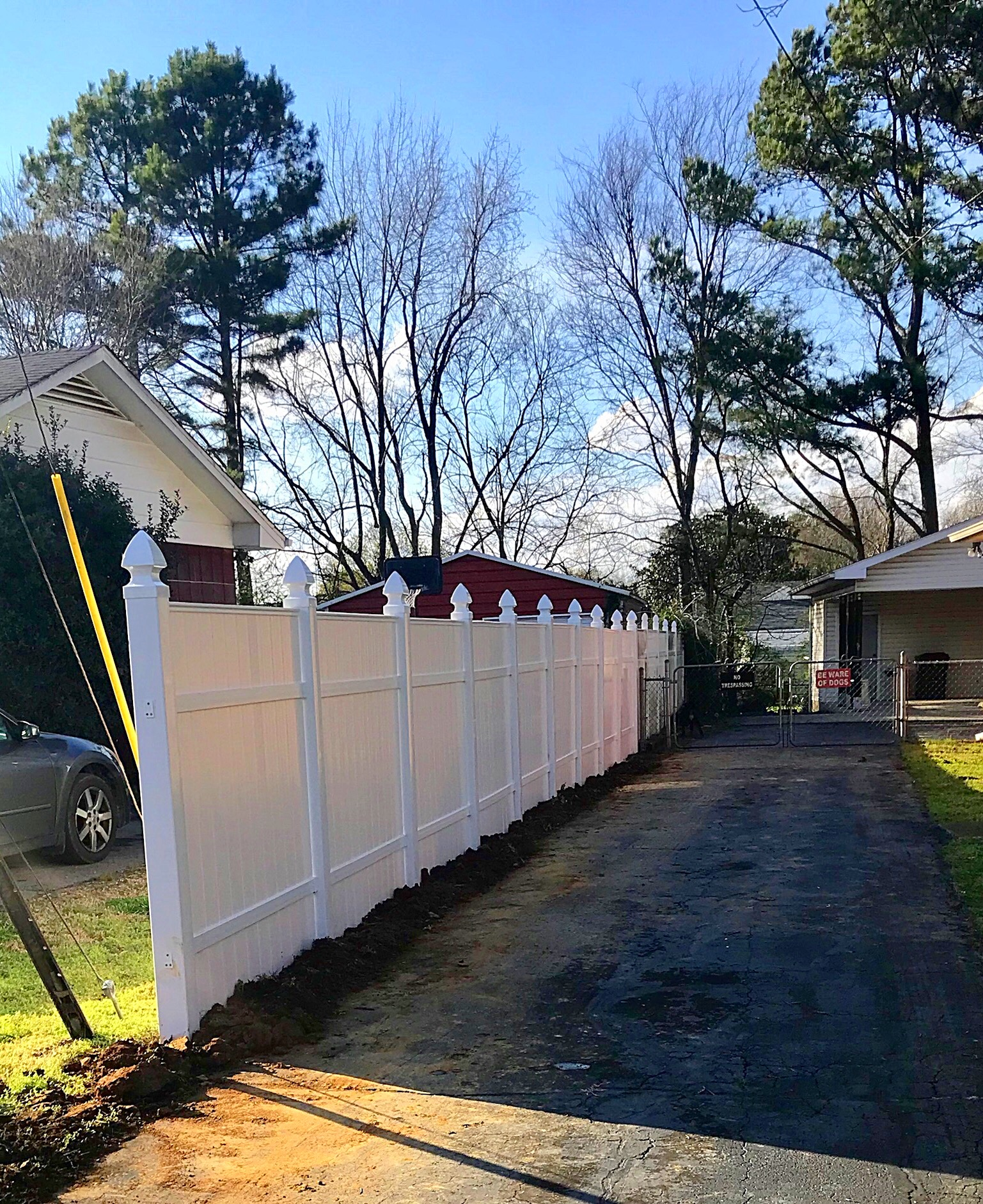 6ft Vinyl Fence-Gothic Style Posts