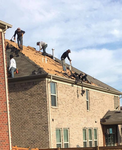 Removing old and installing new roof