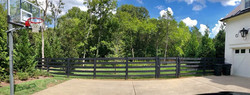5 Rail Farm Fence Painted Black