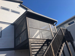 New Deck with Roof and Galvanized Horizontal Rails