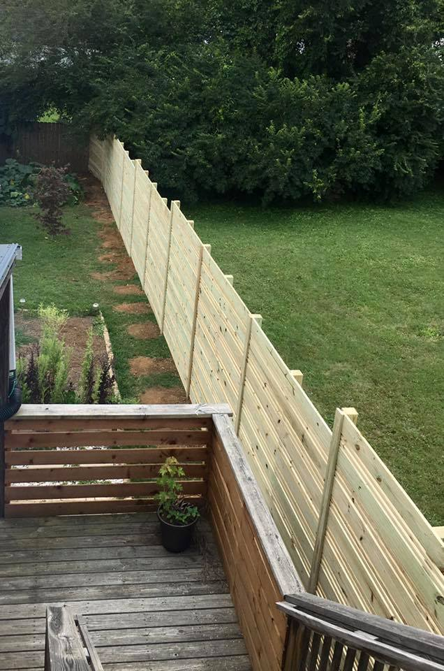 8ft & 4ft Horizontal Fence