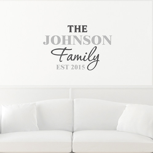 Personalise Our U0027The Familyu0027 Wall Art With A Surname Up To 10 Characters  And A Date Or Message Up To 10 Characters Long.