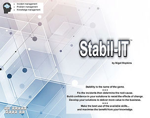 Image of the box front for Game-changing Insight's agile IT service management game, Stabil-IT