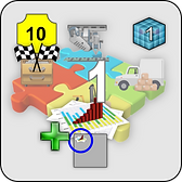 Integration tile from the trainer version of the business strategy game UPGRADE! in the TOTAL-IT collection