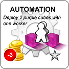 Example of a technonlogy tile used in the IT capacity planning game of DEPLOY!