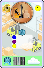 Example of a project card from the IT infrastructure planning game DEPLOY!