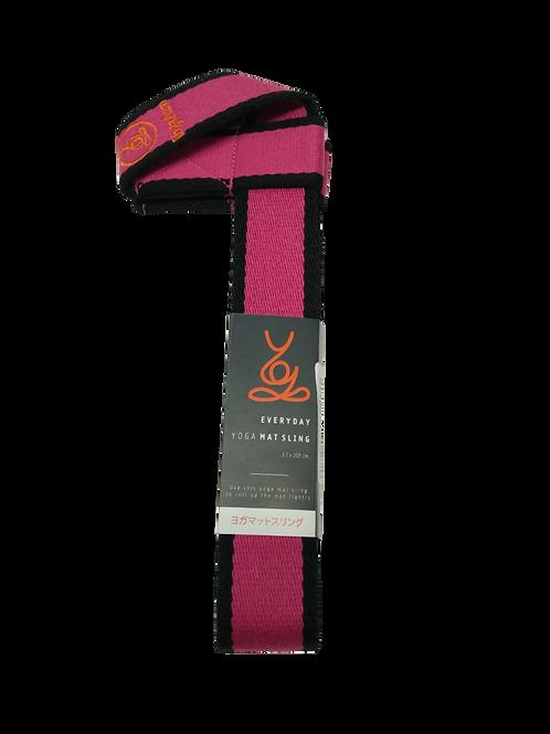 YogaAum : MAT SLING - ROSE WITH BLACK EDGE