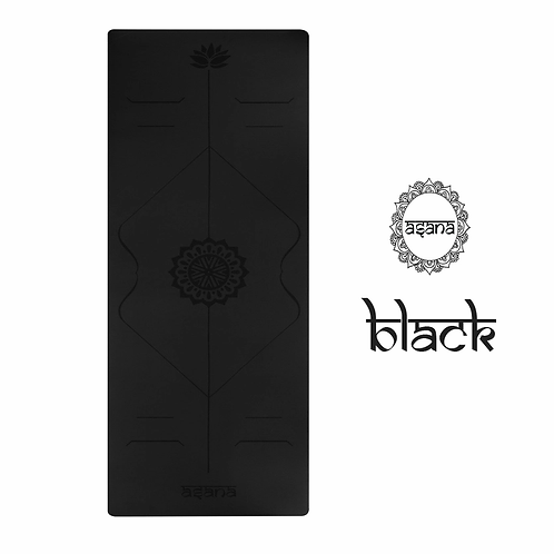 ASANA YOGA MAT 2MM : BLACK