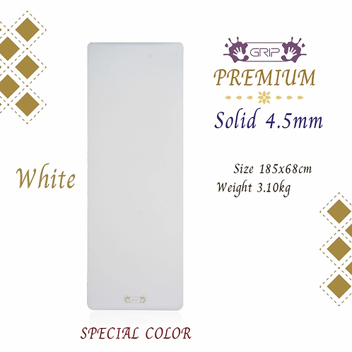 GRIP - PREMIUM SOLID MAT 4.5MM : WHITE