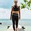 Thumbnail: SSomething Yoga - V-Leggings 'Splendid Collection' : Charcoal-Blue