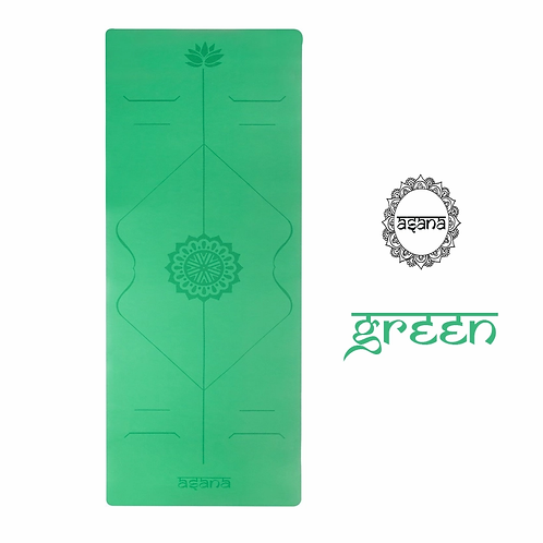 ASANA YOGA MAT 5MM : GREEN